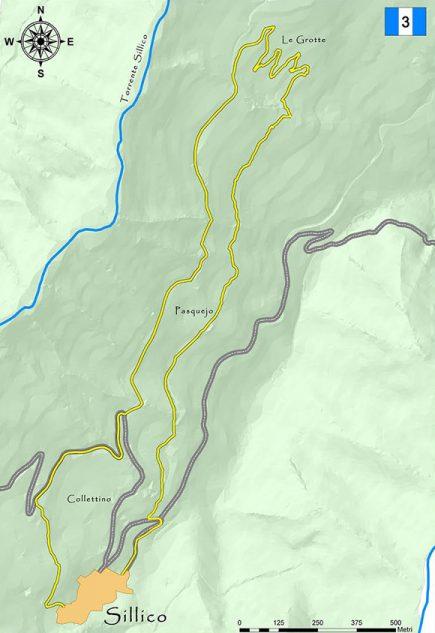 Sentiero Metati
